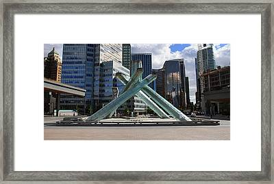 Olympic Cauldron Vancouver Canada Framed Print by Pierre Leclerc Photography