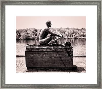 Olympic Champion - John B Kelly Framed Print by Bill Cannon