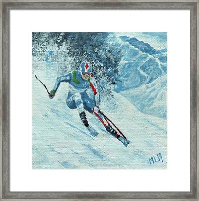 Olympic Downhill Skier Framed Print