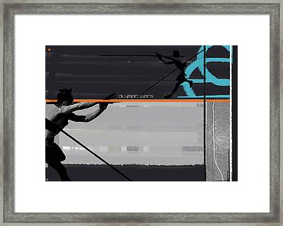 Olympic Effort Framed Print by Naxart Studio