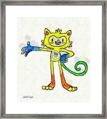 Olympic Games Rio 2016 - Da Framed Print