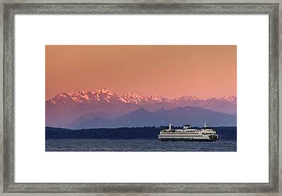 Framed Print featuring the photograph Olympic Journey by Dan Mihai
