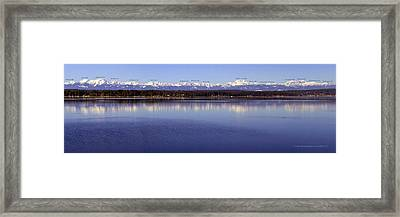 Olympic Mountains Peaks And Elevations Framed Print by Kathy Bauer