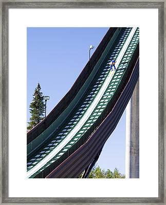 Olympic Ski Jump Training Framed Print