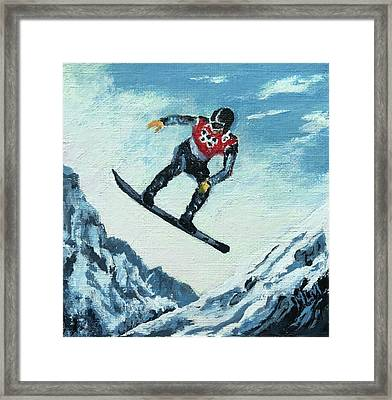Olympic Snowboarder Framed Print