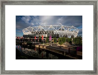 Olympic Stadium Framed Print by Dawn OConnor