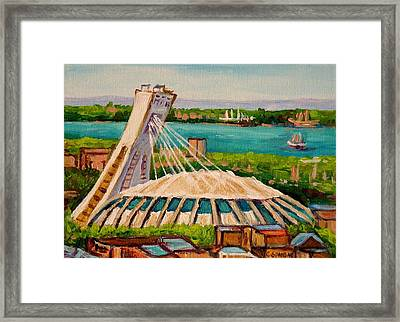 Olympic Stadium  Montreal Framed Print