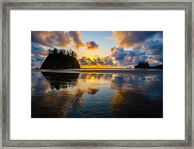Olympic Sunset Glow Framed Print