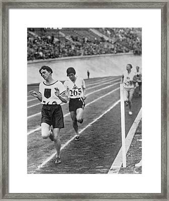 Olympic Women's 800 Meter Race Framed Print by Underwood Archives