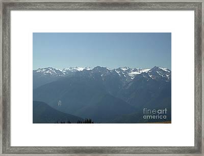 Olympics From Hurricane Ridge Framed Print