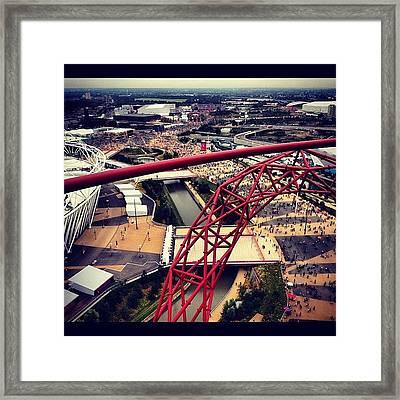 #olympics #orbit #london #london2012 Framed Print