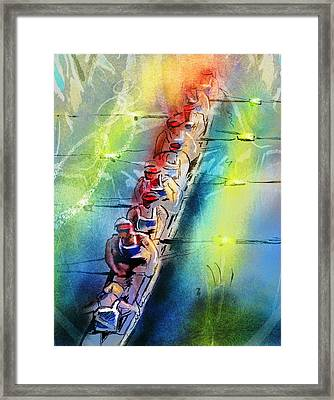Olympics Rowing 02 Framed Print by Miki De Goodaboom