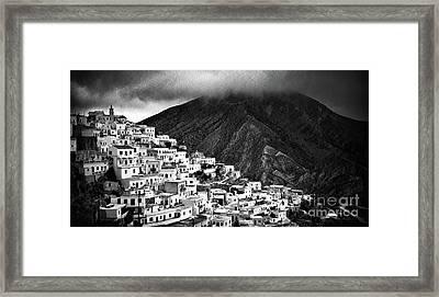 Olympos. Karpathos Island Greece Framed Print