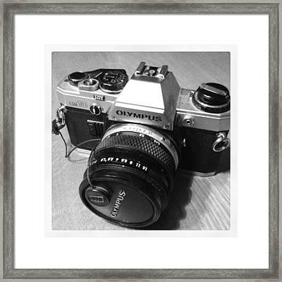 Olympus Om10 Slr Camera Framed Print