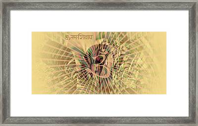 Framed Print featuring the photograph Om Enigma by Robert G Kernodle
