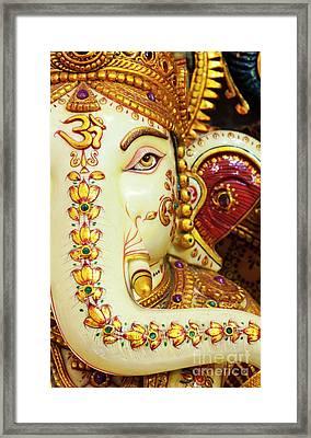 Om Ganesha Framed Print by Tim Gainey