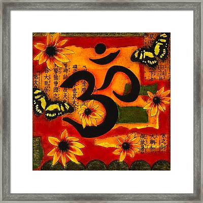 Framed Print featuring the mixed media Om by Gloria Rothrock