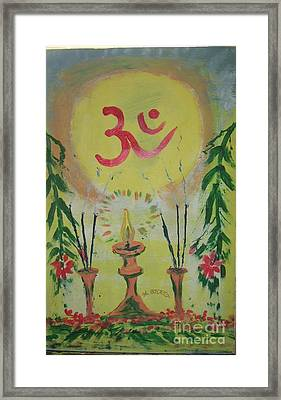 Om Immage For Memmory Framed Print by m Bhatt