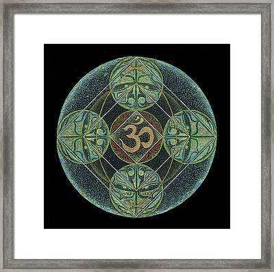 Framed Print featuring the painting Om by Keiko Katsuta