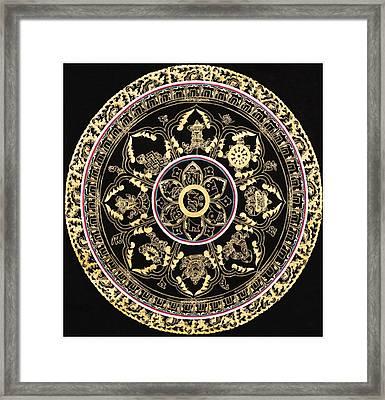 Om Mandala With Astamandala Framed Print