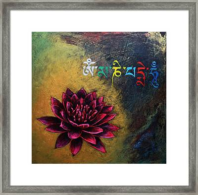 Om Mani Padme Hum Framed Print by Stephen Humphries