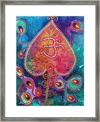 Om Shanti Framed Print
