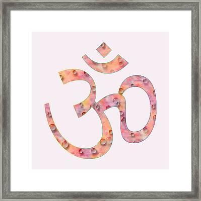 Om Symbol Digital Painting Framed Print by Georgeta Blanaru