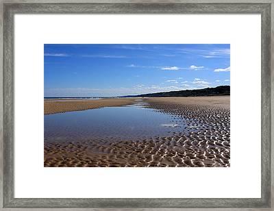 Omaha Beach, Normandy, France. Framed Print by Aidan Moran