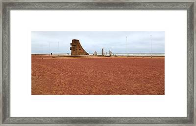Omaha Beach Site Of The American Dday Invasion Of Normandy Framed Print by Louise Heusinkveld