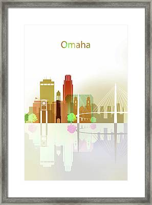 Omaha City Skyline Framed Print