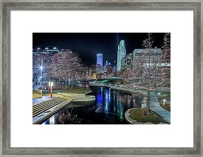 Framed Print featuring the photograph Omaha Holiday Lights Festival by Susan Rissi Tregoning