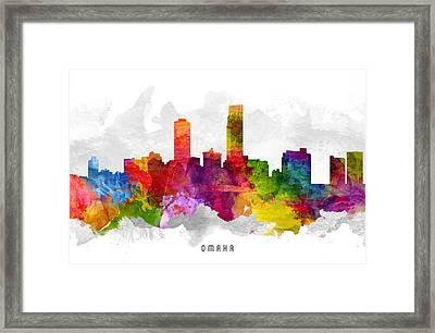 Omaha Nebraska Cityscape 13 Framed Print