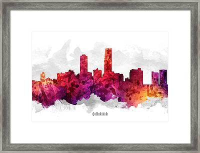 Omaha Nebraska Cityscape 14 Framed Print