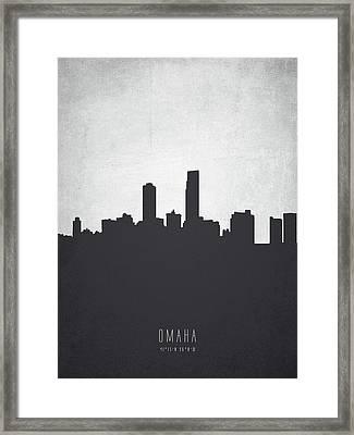 Omaha Nebraska Cityscape 19 Framed Print