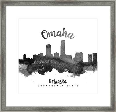 Omaha Nebraska Skyline 18 Framed Print