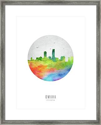 Omaha Skyline Usneom20 Framed Print by Aged Pixel