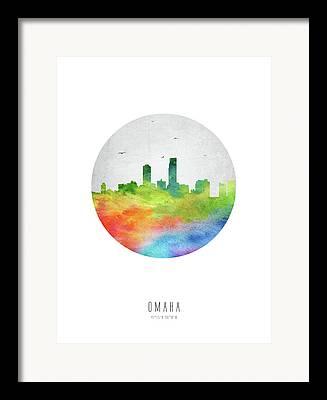 Omaha Nebraska Art Framed Prints
