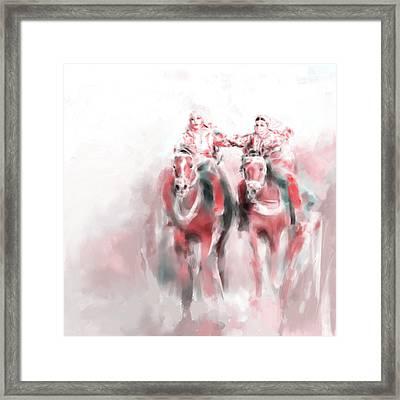 Omani Horse Riders 669 3 Framed Print