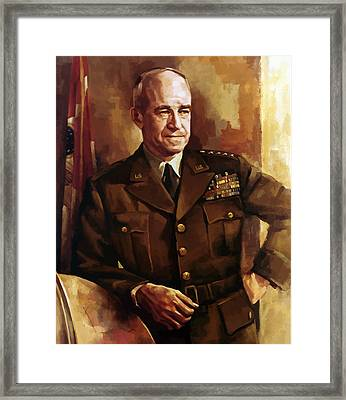 Omar Bradley Framed Print by War Is Hell Store