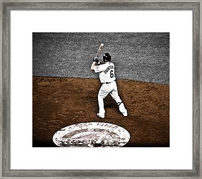 Omar Quintanilla Pro Baseball Player Framed Print by Marilyn Hunt