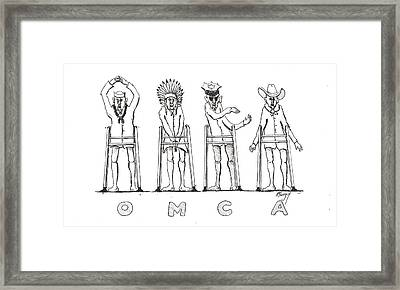 Framed Print featuring the drawing Omca by R  Allen Swezey