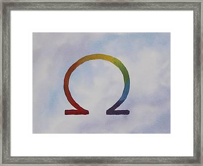 Omega Rainbow Framed Print by Debbie Homewood