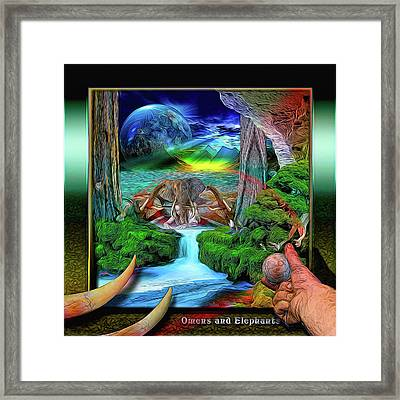 Omens And Elephants Framed Print by Draw Shots