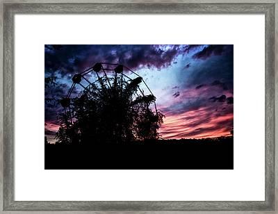 Ominous Abandoned Ferris Wheel Framed Print
