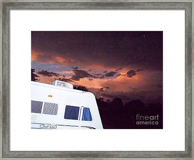 Ominous Beauty Travel Framed Print by Chuck Taylor