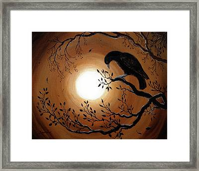 Ominous Bird Of Yore Framed Print by Laura Iverson