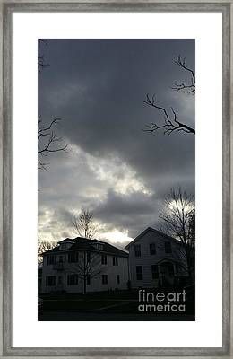 Ominous Clouds Framed Print by Diamante Lavendar