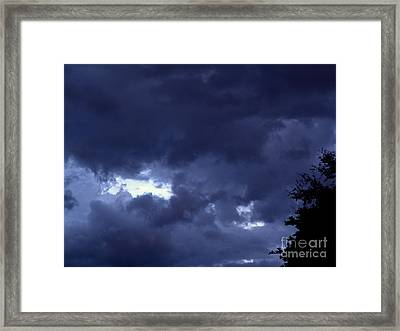 Framed Print featuring the photograph Ominous Clouds by Terri Mills