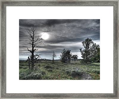 Ominous Framed Print by Clyde Mead