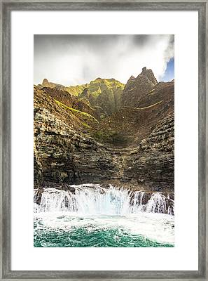 Ominous Napali Framed Print by Peter Irwindale